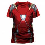 Tricou Marvel - Civil War - Iron Man Costume =Dye Sub=