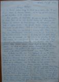 Scrisoare a lui Liviu Groza catre Petru Mircea Groza ( unchi - nepot) , 1946