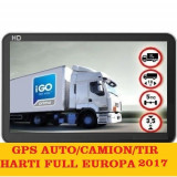 "GPS Auto Navigatii Ecran 7"" AUTO, GPS TIR CAMION, GPS HARTI FULL EUROPA 2017, Toata Europa, Lifetime"