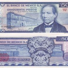 MEXIC 50 pesos 5 iulie 1978 - serie FM UNC!!! - bancnota america