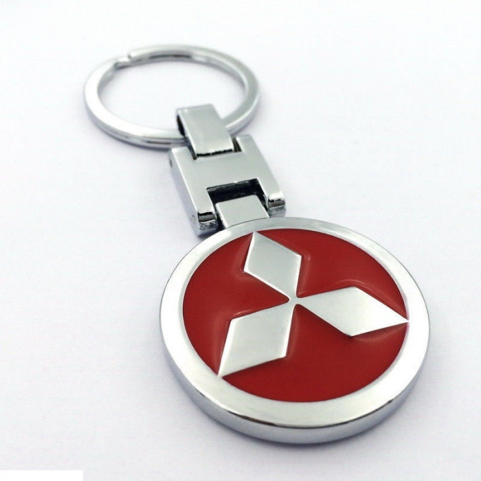 Breloc  auto pentru MITSUBISHI metalic argintiu + ambalaj  cadou