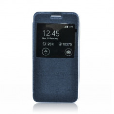 Husa S-View Flexipentru SONY Xperia M5 (Albastru-inchis) - Husa PDA