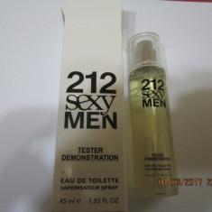 NOU!TESTER 45 ML- C.H 212 SEXY MEN -SUPER PRET, SUPER CALITATE! - Parfum barbati Carolina Herrera, Apa de toaleta