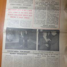 Ziarul informatia bucurestiului 9 ianuarie 1989-ziua de nastere elena ceausescu
