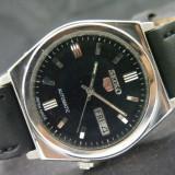 Ceas automatic Seiko - 1 - Ceas barbatesc Seiko, Casual, Mecanic-Automatic, Inox, Piele, Ziua si data