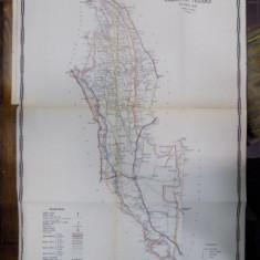 Harta cailor de comunicatie din Judetul Tecuci 1916 - Harta Romaniei