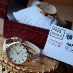 Ceas elegant de dama + cutie CADOU - Poze reale si TRANSPORT GRATUIT, Quartz, Piele ecologica