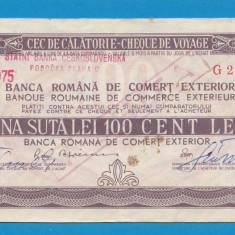 Bon 100 lei Cec de Calatorie Cheque de Voyage 6 - Bancnota romaneasca