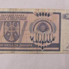 CY - 1000 dinara dinari 1992 Bosnia Hertegovina