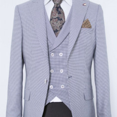 Sacou si vesta albastru PerfectFit New Collection - Sacou barbati, Marime: 48