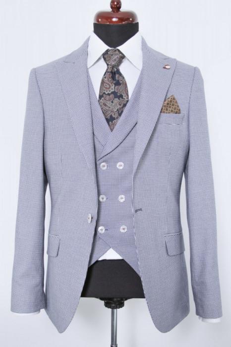 Sacou si vesta albastru PerfectFit New Collection foto mare
