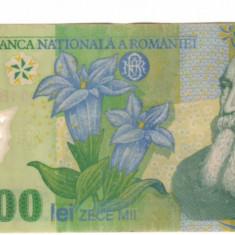 SV * Romania  BNR  10000 / 10.000  LEI  2000   polimer   semnatura   E. Ghizari