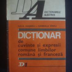 I. HASDEU - DICTIONAR DE CUVINTE SI EXPRESII COMUNE LIMBILOR ROMANA SI FRANCEZA