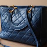 Geanta model inspirat de Dior Lady Dior, piele naturala matlasata