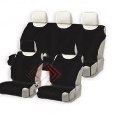 Huse scaune auto tip maieu complete fata si spate din bumbac, culoare Graphite - Husa scaun auto