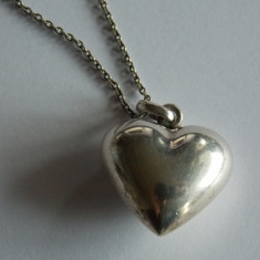 Lant de argint cu pandant inima -1328 - Lantisor argint