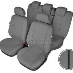 Set huse scaun model Hermes Grey pentru Ford Mondeo 2008-2013, culoare gri, set huse auto Fata si Spate - Husa scaun auto