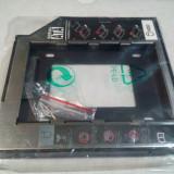 9.5mm HDD SSD Caddy Adaptor rack de la SATA la SATA de laptop unitate optica