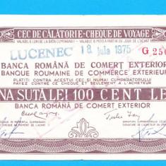 Bon 100 lei Cec de Calatorie Cheque de Voyage 5 - Bancnota romaneasca