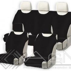 Huse scaune auto tip maieu complete fata si spate din bumbac, culoare Negru - Husa scaun auto