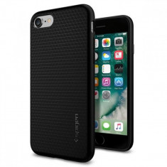 Husa telefon Apple iPhone 7 Spigen Liquid Armor negru 042CS20511, Silicon, Fara snur