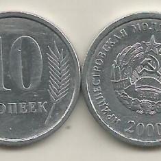 TRANSNISTRIA 10 COPEICI KOPEEK 2000 [1] VF+, livrare in cartonas, Europa, Aluminiu
