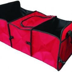 Geanta organizare pliabila 2 in 1 pentru portbagaj cu compartiment termoizolat 60x31x28cm