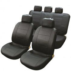 Set huse scaune auto imitatie piele Streetwize Leather Look, culoare negru, set fata si spate - Husa scaun auto