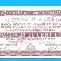 Bon 100 lei Cec de Calatorie Cheque de Voyage 4 - Bancnota romaneasca