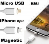 Cablu Incarcare Magnetic 1m Moizen M2 Micro USB Android sau iPhone