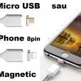 Cablu Incarcare Magnetic 1m Moizen M2 Micro USB Android sau iPhone