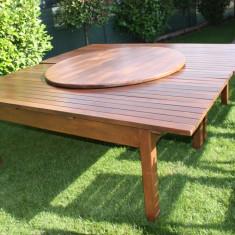Vand masa si 6 scaune pentru pensiune filigorie sau terasa - Masa gradina