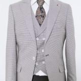 Sacou si vesta negru PerfectFit New Collection - Sacou barbati, Marime: 48