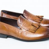 Pantofi barbati piele TOP Luxury maro New Collection