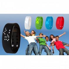 Bratara ceas fitness cu bluetooth BAS-Tek Kidz - Bratara Fitbit Flex