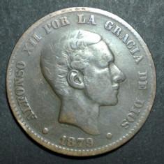 Spania 10 centimos 1879, Europa