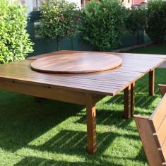 Vand 2 mese si 12 scaune pentru pensiune filigorie sau terasa - Masa gradina