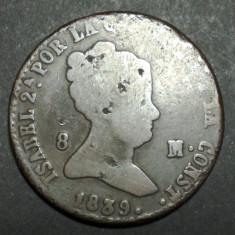 Spania 8 maravedis 1839, Europa