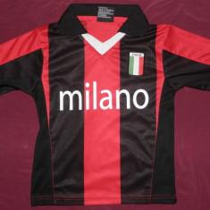 Tricou fotbal Milano - Italia, marimea 104, de copii, ca nou, Marime: XXS, Culoare: Din imagine