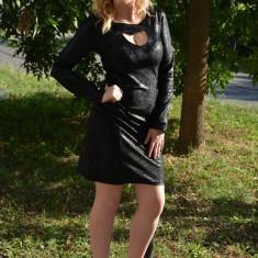 Rochie rafinata, cu decolteu in forma de inima, neagra (Culoare: NEGRU, Marime: 40) - Rochie ocazie, Maxi, Lunga