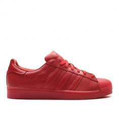 Adidas Superstar Adicolor -full red-piele naturala-garantie-S80326 - Adidasi barbati, Marime: 42, Culoare: Rosu