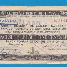 Bon 500 lei Cec de Calatorie Cheque de Voyage 1 - Bancnota romaneasca