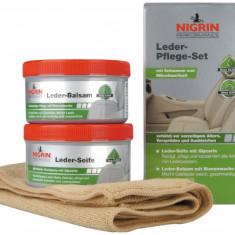 Set curatare si reconditionare tapiterie piele Nigrin Performance Leder-Pflege-Set - Accesoriu Curatare Aparate Foto