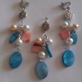 Pandantiv si cercei clipsuri - Set bijuterii handmade si fashion