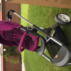 Carut STOKKE Superb + Accesorii - Carucior copii 3 in 1 Stokke, Violet