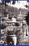 B104 RPR CP vedere circulata 1966 Vatra Dornei gara,animata,biserica evanghelica, Fotografie