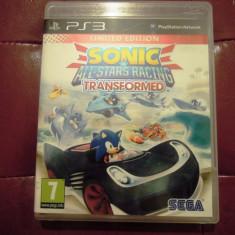 Sonic All Stars Racing Transformed, PS3, original, alte sute de jocuri! - Jocuri PS3 Sega, Curse auto-moto, 12+, Multiplayer