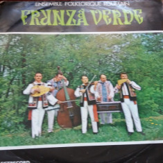DISC  VINIL   ENSEMBLE FOLKLORIQUE ROUMAIN FRUNZA VERDE