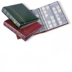 Album monede OPTIMA clasic in caseta de protectie, cu 10 folii - album clasor