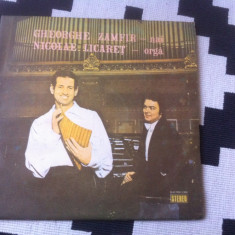 Gheorghe Zamfir nai Nicolae Licaret orga disc vinyl lp Muzica Populara electrecord folclor, VINIL